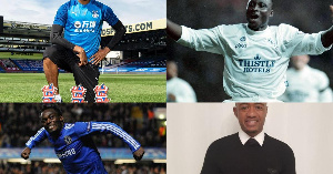 Jordan Ayew, Michael Essien and Anthony Yeboah