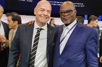 Dr. Kofi Amoah with FIFA President Infantino