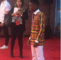 Abraham Attah spotted on the red carpet of SpiderMan premiere