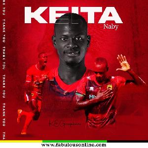 Asante Kotoko have parted ways with striker, Naby Keita