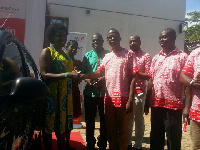 She won her car prize after receiving a money transfer on MoneyGram at UBA Tanoso branch in Kumasi.