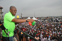 Vice President Kwesi Amissah-Arthur during one of his campaign tour