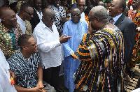 President Mahama exchanging pleasantries with Nana Akuffo Addo
