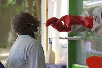 File photo of a coronavirus testing