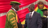 KNUST Chancellor Otumfuo Osei Tutu II at the induction of the Vice Chancellor