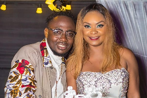 Actress Beverly Afaglo with her husband