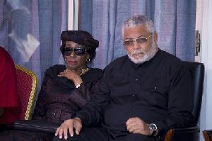 Former President John Rawlings and wife Nana Konadu Agyemang Rawlings