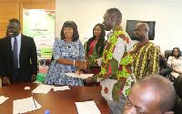 Ms Lydia Atiemo (L) and Abraham Kofi Asante (R)