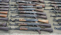 The robbers stole unspecified number of weapons from the Armory