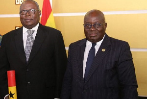 President Akufo-Addo inaugurated the 9-member governing board of the Special Prosecutor Thursday