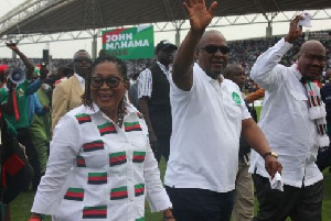 President John Dramani Mahama and wife at the NDC Campaign Launch