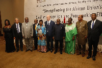 President Akufo-Addo with other leaders at the 9th High-Level African Union Retreat