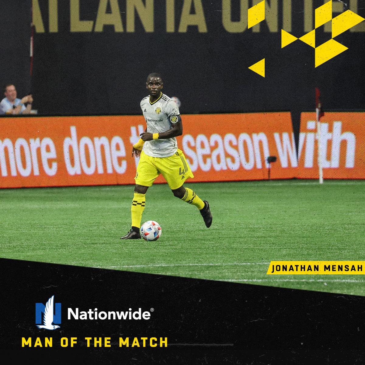 Jonathan Mensah named Man of The Match in Columbus Crew win over Atlanta