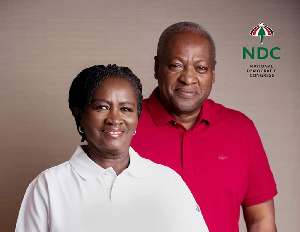 John Mahama and his running mate Prof. Jane Naana Opoku-Agyemang