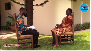 Kwabena Kyenkyenhene Boateng (l) with Former Education Minister, Jane Opoku-Agyeman (r)