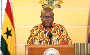 President Nana Akufo-Addo on Friday declared a partial lockdown