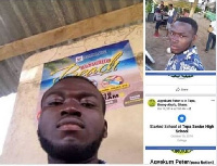 Peter Agyekum is alleged to have absconded with huge sums of money from the shop he manages