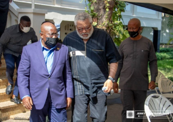 Rawlings endorsed Akufo-Addo's 2nd term before he died - Report