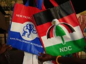 NPP Flag (L) , NDC Flag (R)