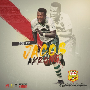 Joseph Akrong is reported to have travelled to Ghana against his club's order