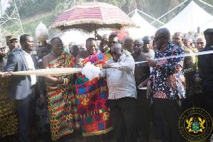 President Nana Addo Dankwa Akufo-Addo reopens AngloGold Ashanti mines in Obuasi