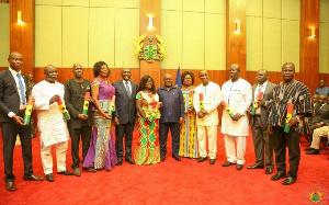 President Nana Addo Dankwa Akufo-Addo with sworn in Deputy Regional Ministers