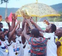 Winners of the Odwira Beach Soccer tournament