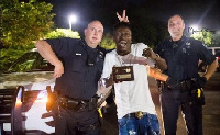 Shatta Wale and some American police men