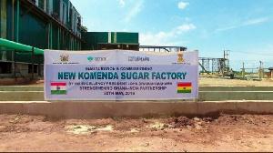 Signage at the Komenda Sugar Factory