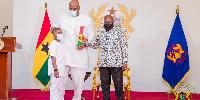 President Nana Addo Dankwa Akufo-Addo with Henry Quartey