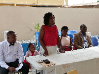 Pastor Mrs Christina Mante speaking at the launch of 'Empty Nest Foundation'