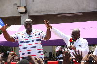 Nana Akufo-Addo with Henry Quartey at the campaign
