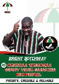 Bright Botchway is Deputy Youth Organizer hopeful in the Central Region