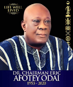 Dr. Eric Afotey Odai was the chairman of Accra Great Olympics