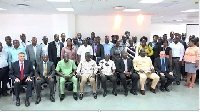 In attendance were the Ministers of Transport, Director General of the GMA and other officials