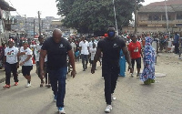 The heavily built men were spotted during the NDC's Unity walk in Kumasi