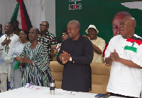 Some NDC executives together with President John Mahama