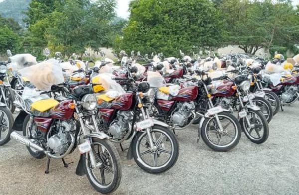 The 35 motorbikes donated