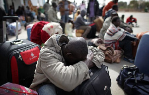 Stranded Ghanaians At The Airport
