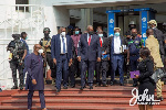 John Dramani Mahama and his team at the Supreme Court