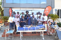Present during the presentation was Hon. Tina Mensah(Deputy Health Min) and some management of Goil