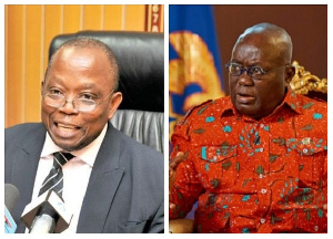 President Akufo-Addo insisted in a CNN interview that Mr Domelevo was not forced out of office