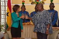 Mahama and the incoming Mexico ambassador to Ghana, H.E. Mrs. Maria de Los Angeles Arriola Aguirre