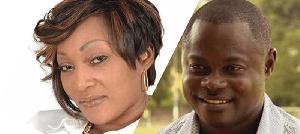 Nii Odartey Lamptey and his ex-wife, Gloria Appiah