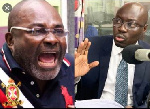 MP for Assin Central, Kennedy Agyapong (L) and Ato Forson (R)