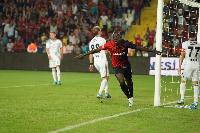 Raman Chibsah celebrating his goal for Gazisehir Gaziantep