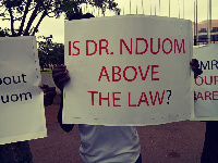 The group wants the president to arrest Dr. Nduom