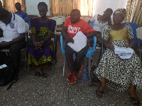 Some members of the Ghana Federation of Disability at a one-day workshop in Bolga