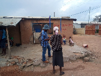 A woman tells a Ghanaweb reporter why it is forbidden for the land to be sold