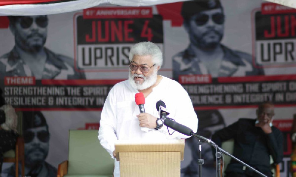 Don't whitewash your dirt and greed with PV Obeng, Tsikata's names - Rawlings bites Ahwoi again